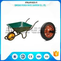 China Solid Wheel 13X3 Home Hardware Wheelbarrow 100kg Load Wide Stance Legs on sale