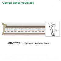 Quality 2400mm White PU carving Panel moulding ceiling corner for interior decoration for sale