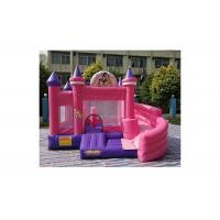 Quality 0.55mm PVC Pink Cinderella Princess Inflatable Bouncer Combo Commercial Grade for sale