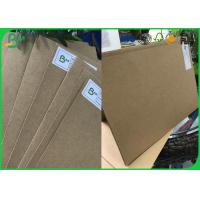 Quality FSC Certified 250gsm - 850gsm High Grade Imported Paper Solid Board , Brown Kraft Paper for sale