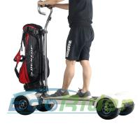 Quality EcoRider Four Wheel Electric Golf Scooter Skateboard Cart with Ajustable Handle for sale