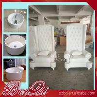 Buy cheap Pedicure spa with high back throne chair comfortable luxury pedicure spa massage from wholesalers