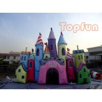 Quality Giant Fantastic Cinderella Castle , Customized Colourful PVC Jumping Castle for sale