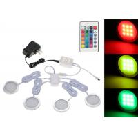Quality Dimmable Remote Control Illuminator Led Lights Slim Round Shape RGB Under Cabinet Light Kit for sale