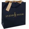 Buy cheap Custom Luxury Black C1S Art Paper Matt Laminated Shopping Bag With Ribbon Bow from wholesalers