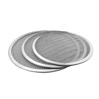 Quality Seamless Rim Aluminium Pizza Pan , Round Pizza Trays Cookware Bakeware 1mm Thickness for sale