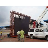Quality Scoreboard LED Display Project for Football Stadium Perimeter P10 / P16 / P20 Outside for sale