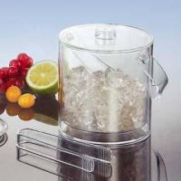 Quality Acrylic Ice Bucket with Tongs for sale