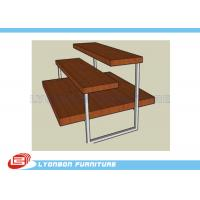 Pant / Clothes 3 Shelf Chipboard Display Stands 3 Layers With Metal Tube