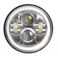 Quality 7 Inch LED Headlights Lights Bright White / Amber Turn Signal With Halo Ring for sale