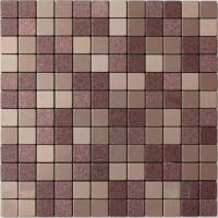 Quality Light Purple Beige Solid Face Metallic Mosaic Tiles Self Adhesive for sale