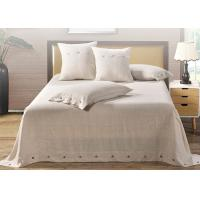 Quality 4 Pcs Luxury Sheet Sets Linen Cotton Multiple Colors With Logo Customized for sale