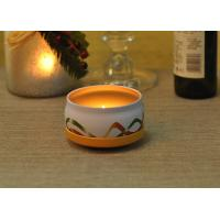 Quality Large Colored Tin Candle Holders Box Personalised For Home Fragrance for sale