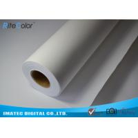 "Quality Medium Textured Polyester Canvas Rolls Matte Bright White 24"" 36"" 44"" 50"" 60"" for sale"