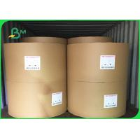 Buy Durable Large Craft Paper Roll , Recyclable White / Brown Kraft Paper Roll at wholesale prices