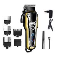 Quality Golden Color Electric Hair Trimmer , Cordless Barber Clippers For Pets / Human for sale