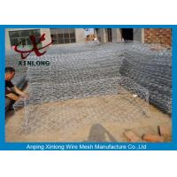 Quality Hot Dipped Gabion Wall Cages , Gabion Stone Baskets For Bank Protection 60*80 for sale