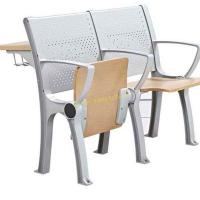 Quality Plywood Metal University College Classroom Furniture / Foldable School Desk And Chair Set for sale
