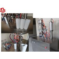 Quality Freon Under Cap Vacuum Semi Automatic Aerosol Filling Machine For Refrigerant for sale