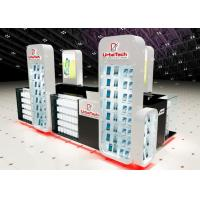 Buy Wood Glass Mobile Shop Display Counters High Low Combination For Shopping Mall Display at wholesale prices