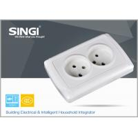 Quality Europe standard 16A 250V two gang electric wall socket used in the living room for sale