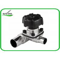 Quality Manual / Pneumatic Sanitary 3 Way Diaphragm Valve , T Type Tri Clamp Valve for sale