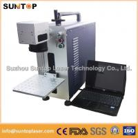 China Bearing portable fiber laser marking machine small size desktop model on sale