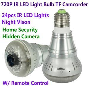 Quality HD 720P E27 24pcs LED Light IR Bulb Lamp Video Camcorder Hidden Spy CCTV Surveillance DVR for sale