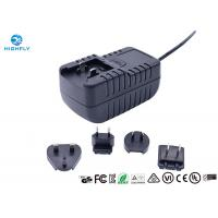Quality 18W Interchangeable Plug Power Adapter 12V 1.5A Switching AC/DC Adapters for sale