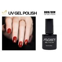 Quality Professional Red Glitter Gel Nail Polish Salon Quality OEM / ODM Service for sale
