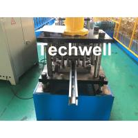 Quality PPGI , Galvanized Steel Guide Rail Roll Forming Machine With Disk Saw Cutting For Making Shutter Door Slats for sale