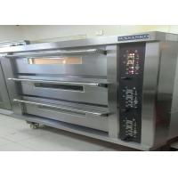 Quality Stainless Steel Door Electric Baking Oven 3 Deck 15 Trays Stone Deck Oven for sale
