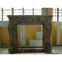 Quality China Dark Emperador Marble Stone Fireplace Surround Brown Color 120*30*100cm for sale