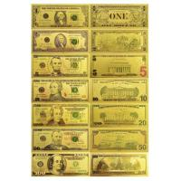 Buy cheap $1 $5 $10 $20 $50 $100 24k Gold Foil American Banknote from wholesalers
