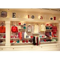 Quality Combinational Children'S Store Fixtures High Wall Shelves And Display Table for sale