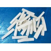 Quality forzen squid strips IQF EU standard size 1*1*10cm chemical off  no additives white color for sale