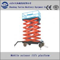 Buy 4M to 18M height four wheels mobile scissor lift platform or lift table at wholesale prices