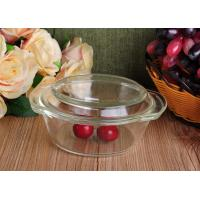 Quality Pyrex Glass Tableware Clear Glass Oven Bowls with Lid , 4 Sizes Heat Resistant Eco-friendly for sale