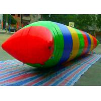 Quality Crazy Giant Inflatable Water Toys / Lake Water Blob Trampoline for Adults for sale