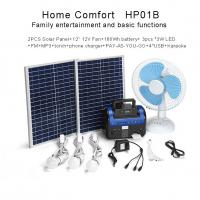China Environmentally Residential Solar Power Systems High Capacity Battery Backup on sale