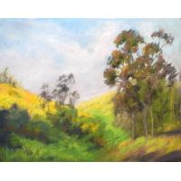 Quality frame painting trees lake art painting for sale