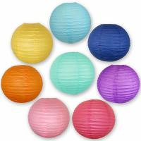Quality Colorful Chinese Paper Lamp Paper Lantern Decorations 6 Inch / 8 Inch for sale