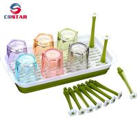 Quality Kitchen organisers drainer draining rack plastic cup holder drainer baby bottle drying rack-RECTANGLE for sale