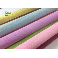Quality Colored Double Sided Crepe Paper Roll 52cm x 250cm For Decorations for sale