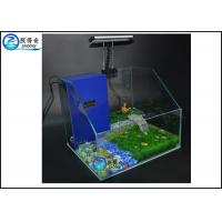 Quality Water / Land Ecological Aquarium Fish Tank , Tortoise Pet Tank With LED Light for sale