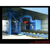 Quality Roller Type H Beam Sand Blasting Machines With 8 Shot Blaster And Dust Collection System for sale