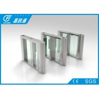 Buy Entry doors access control facial recognition infrared sensor fast speed automatic swing turnstile gate at wholesale prices