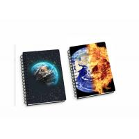 China Lenticular PP / PET 45 Sheets 3D Flip Notebook A4 / A5 / A6 Size Plastic Hard Cover on sale