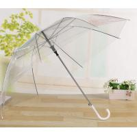 Quality Transparent Clear Bell Shaped Umbrellas / Bridal Umbrella White Cap / Tips for sale