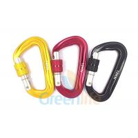 Quality Auto Lock Marine Snap Hook , D Shape Big Size Rock Climbing Carabiner Colorful for sale